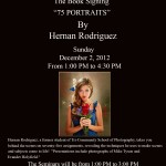 75 Portraits by Hernan Rodriguez-Book Signing at Tri Community College