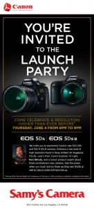 Canon EOS Launch party Samyscam