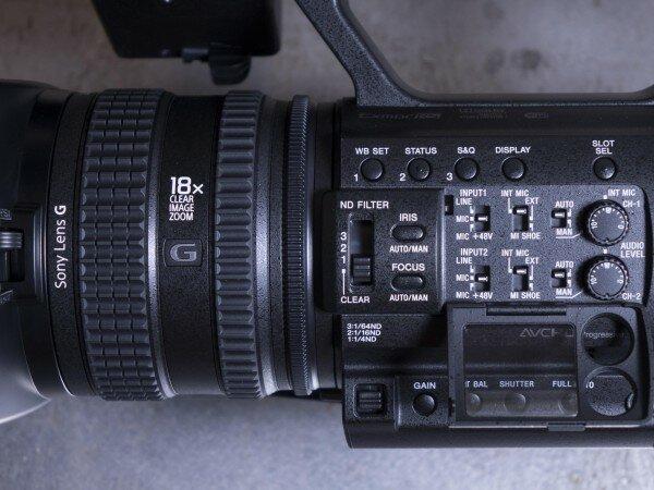 Sony-Z150 zoom