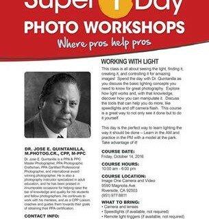 Super One Day Workshop in Riverside California.