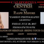 WORKSHOP: FASHION PHOTOGRAPHY LIGHTING-JULY 28 SAN DIMAS CA