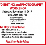 Long Beach CA.-Photo Editing & Photography Workshop